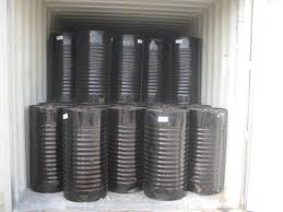 Bitumen Loaded into Containers